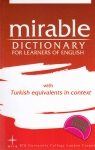 , Mirable Dictionary For Learners of English With Turkish Equivalents in Context