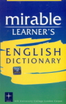 , Mirable Learners English Dictionary